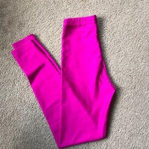 american apparel hot pink leggings